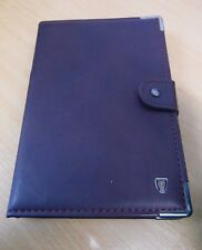 Rover 75 Owners Handbook Manual with Rover Burgandy Leather Case Wallet Folder