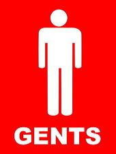 Gents WC segno alluminio metallo lavoro / sede / shop / segnale di sicurezza, Mens