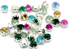 50 perles strass multicolore