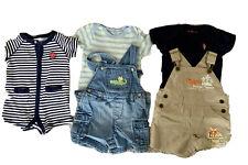 5 Piece Lot Baby Boy Shirt Romper Overalls Blue Beige One piece 3m 6m Disney