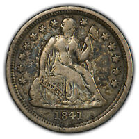 1841-O 10c Seated Liberty Silver Dime - VF+ Key Date     (LOT 1)
