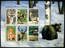 COMOROS WILD ANIMAL STAMPS SHEET 1999 MNH FOX TIGER BEAR WOLF CAMEL WILDLIFE