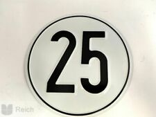 Geschwindigkeitsbegrenzungsschild verzinktes Blech 25 km/h
