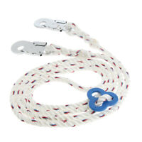 23KN Climbing Fall Protection Lanyard Harness Rope Belt w/ Clip Hook Buckle