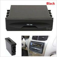 Plastic Black Car SUV Single Din single-disc Radio Pocket Cup Holder Storage Box