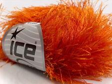 38Yd Orange Extra Long Eyelash Yarn Luxurious Fun Fur 13269