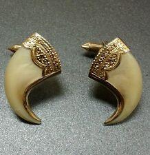 "Antique Estate 18K Gold Fancy Hand Engraved Claw Cufflinks"" Rare"""