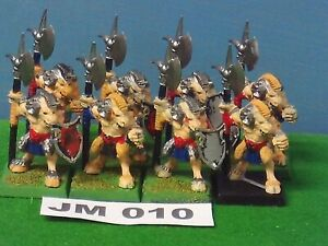 OOP Warhammer Chaos Beastmen x 8 Classic Plastic (circa 1994) REF JM 010