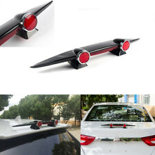 Car Mini Spoiler Wing Small Airplane Double Lamps Styling Without Perforation