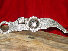 VINTAGE FLEMING STERLING SILVER WESTERN CONCHO HORSE BRIDLE HEAD STALL BIT