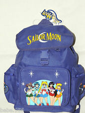 """NWT  *SAILOR MOON* PURPLE  CANVAS  BACKPACK  12"""" X 9"""" X 4 1/2"""" WITH SIDE POCKETS"""