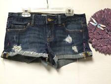 Ladies denim shorts size 0 distressed Pink Victoria's Secret 63