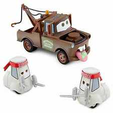 Disney Wasabi Cars 2 Screaming Tow Mater & 2 Sushi Chef 3 Pc Cast Metal Cars Set