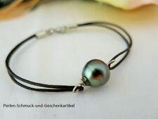 Armband mit Echter Tahiti-ZuchtPerle 11mm Barock, Schwarze Perle! TOP Geschenk