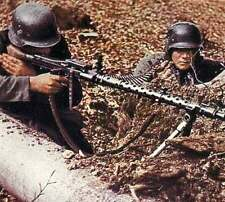 MG34 in action COLOR photo, MG 34 MG42 German WW2 / 2130