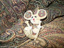 Christmas Ornament Mice Mouse Hand Made ooak cutie Free Ship