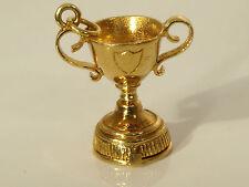 Una bella vintage 9 carati oro giallo NUVO apertura trofeo coppa di scorrimento CIONDOLO 4,7 g