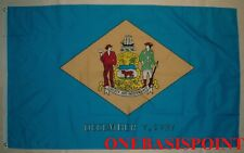 3'x5' Delaware State Flag USA Outdoor Indoor Banner First Coat of Arms 3x5