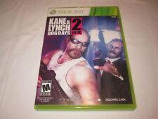 Kane & Lynch 2: Dog Days (Microsoft Xbox 360) Original Release Complete Nr Mint!