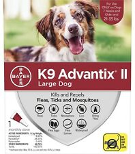 Bayer K9 Advantix II Flea Tick Mosquito Lice Prevention for Large Dogs 21-55 lbs
