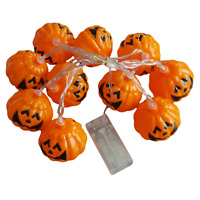 Halloween Decor LED String Lights Party Pumpkin Trick or treats scare