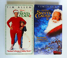 The Santa Clause and The Santa Clause 2 (1 & 2) VHS Lot of 2 Tim Allen Ex-Rental
