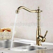 Brass Gold Modern Kitchen Taps