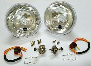 Classic Austin Rover Mini Genuine Lucas Halogen Conversion Headlights Lamps H4