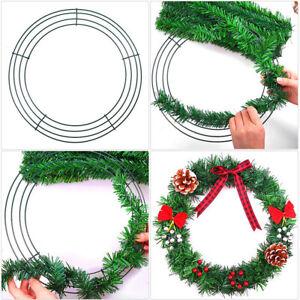 Christmas Round Metal Wreath Frame Base DIY Xmas Wedding Floral Crafts Wire Form