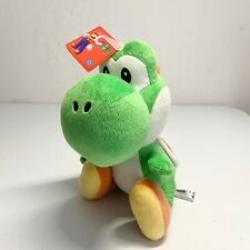 "NWT New Super Mario Bros Green Yoshi Plush Stuffed Animal Nintendo Doll 11"""