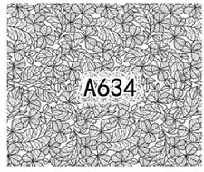 Nail Art Decals Transfers Stickers Lace Pattern (A-634)