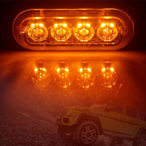 4LED Car Strobe Warning Light Grill Flashing Breakdown Emergency LED Side LigFY