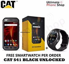 CAT S41 RUGGED IP68 FACTORY UNLOCKED 4G/LTE 32GB BLACK + Free SmartWatch