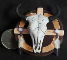 Medicine Wheel Buffalo Head Shield 1:12 Miniature Native American Indian #8974