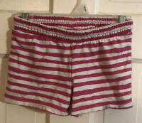 Jumping Beans Girls Pink & White Striped Cotton Shorts Size 5