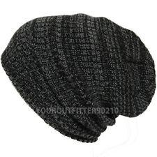 Men's Women's Crochet Knit Winter Heavy Oversize Baggy Beanie Slouch Ski Cap New