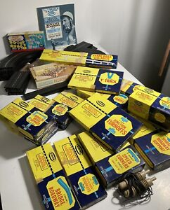 Aurora Model Motoring IN HO Scale Slot Car Track & Accessories Lot