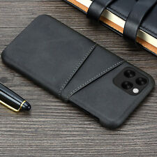For iPhone 12 Pro Max 11 12 XS XR X 7 8 Leather Card Wallet Hard Back Case Cover