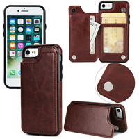 1X Fashion Leather PU Magnetic Card Slot Wallet Case Flip Stand Cover For iPhone