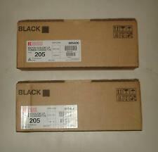 2 x Genuine Ricoh AP3800 / CL7000 Type 205 Black toner Part No: 885406