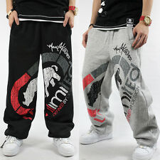 Men's Ecko Unltd Hip Hop SkateBoarding SweatPants Cotton Loose Printing Pants