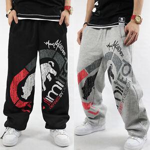 Men's Ecko Unltd Hip Hop SkateBoarding SweatPants Cotton Loose Printing Pants