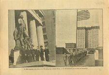 WWI Marine National Marins Statue Washington New-York USA War 1917 ILLUSTRATION