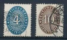 D.Reich Dienst Nr. 130-131 gestempelt,  Strohhutmuster 1933 (63769)