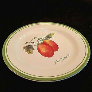 Williams Sonoma Tree Tomato Luncheon Plate Tamarillo Heirloom Tomatoes Salad