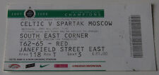 Ticket for collectors CL Celtic FC Spartak Moscow 2007 Scotland Russia