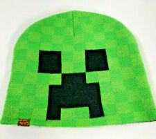 Official Jinx Minecraft Creeper Sprite Fold Beanie Hat Youth Fit