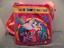My Little Pony Rainbow Magic Messenger Bag Crossbody Satin Top Zip Passport Bag
