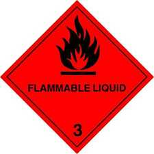 MAGNETIC Hazchem, Flammable Liquid Warning Camping, Car, Van Commercial Safety