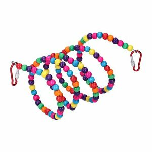 Bird Standing Rope Flexible Colorful Swing Cage Hanging Chewing Climbing ND2